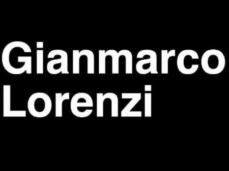 Gianmarco lorenzi collector